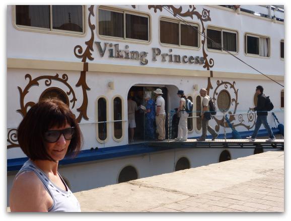 Barbara and the Viking Princess Nile Cruise Ship