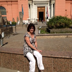 Barbara at the Egyptian Museum Cairo.