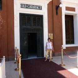 Barbara at The Old Cataract Hotel Aswan November 2012