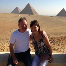 The Pyramids, Giza. Colin & Barbara November 2012.